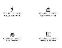 Logos for Coastal Living magazine