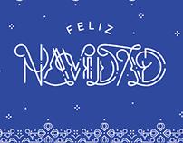 Feliz Navidad - Free Christmas Lettering Postcards