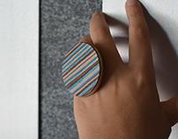 Circular Modern Wooden ring