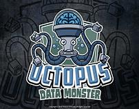 Octopus Data Monster Mascot Logo