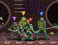TMNT: The Arcade Game | Pixel Art