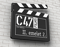 C47 Films logo and identity