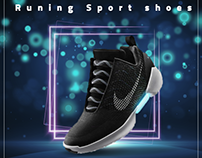 Runing Sport Shoes (Nike) ''Social Media Design''