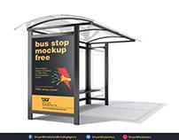 Free PSD - Bus Stop Mockup 2 Download