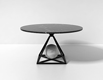 Contrepoids table marble