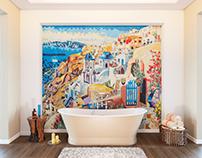 Mosaico 3d visualization in interior
