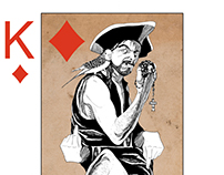 Pirates, cartes de poker.