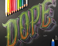 DOPE Lettering
