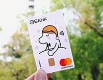 cama café(Beano) ✕ O-BANK   Debit Card Design