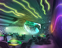 Concept Designs for an Alien Themed Hotel - Las Vegas