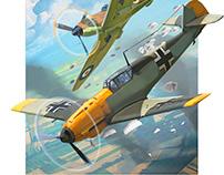 Air battles over Europe