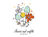 Flowers & confetti.