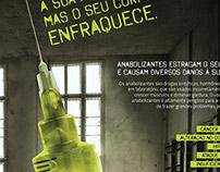 Secretaria de Saúde - Contra o uso de anabolizantes