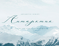 Antarctic font