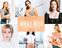 Free Whole Milk Mobile & Desktop Lightroom Presets
