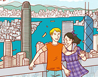 Dan and Sue in Hong Kong