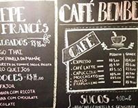 Parede de giz- Café BemBem