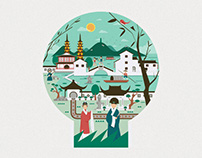 2016苏州首届城市定向赛城市宣传插画