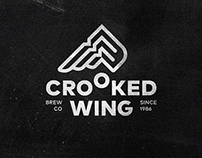 CROOKED WING. Logo & Beer Labels