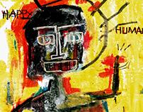 Ilustración estilo Basquiat / Basquiat style illustr.