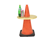 Traffic cone table