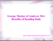 George Mosher of Andover, MA: Motivated Entrepreneur