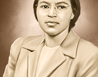 Rosa Parks Digital Oil Style Painting by Wayne Flint
