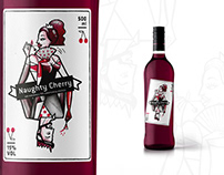 Label design for a Cherry liqueur bottle