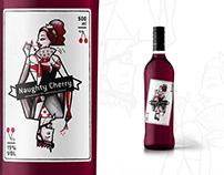 Label design for a Cherry liqueur bottle