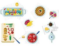 Food Flat design