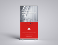 Free Advertising Roll-up Mockup