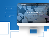 Corporate IT Business Web Design Template | Free PSD
