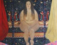 """Love""; oil on canvas"