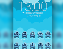 Baby Blue Icons