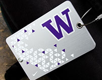Metal Luggage Tag for Washington Huskies