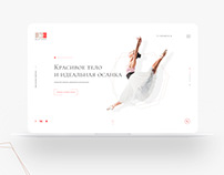 Landing page for Ballet school