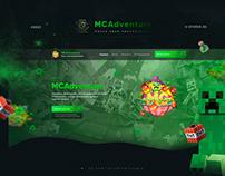 Веб-дизайн для проекта MCAdventure!