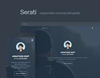 Serati - Free Html Resume Template