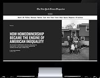 NEW YORK TIMES 2017 Website Design Concept