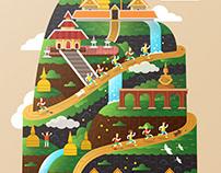 Suthep Mountain Illustration