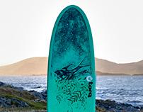 Surfboard custom illustrations