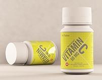 Vitamin C Bottle (Free 3D Max File)