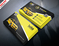 Taxi Service Business Card PSD