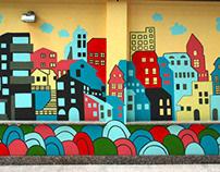 Mural on B. Vacarescu no.13. Bucharest