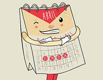 Diseño de personaje - Candelario el calendario