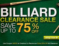 Billiard's E-mail Blast & Banner