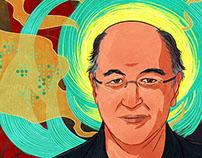 Stephen Wolfram portrait - Client: Flaunt Magazine