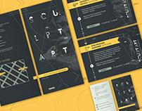 «SculptArt» studio visual style