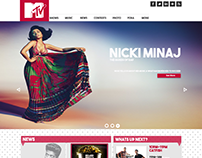 MTV website Re-design
