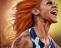 Sha'Carri Richardson Digital Art by Wayne Flint